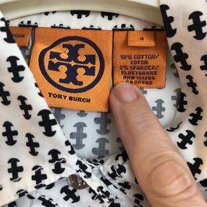 Tory Burch short sleeve cotton shirt.